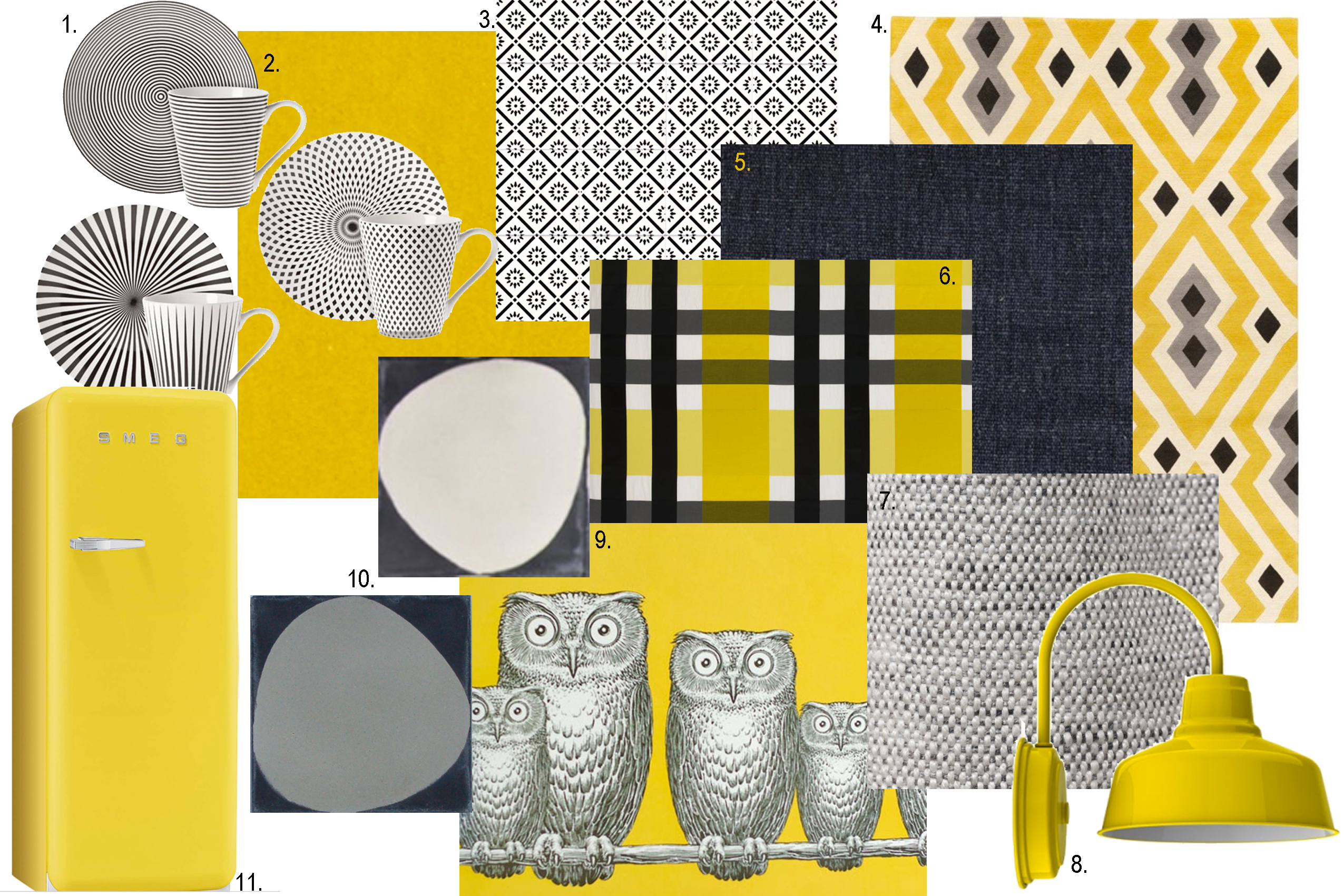 a pinch of yellow moodboard